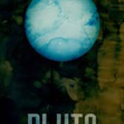 The Planet Pluto Print by Michael Tompsett