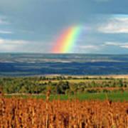 The Pleasant View Rainbow Art Print