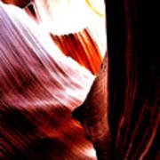 The Polished Rocks Of Lower Antelope Canyon Art Print