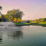 The Pond Fountain Art Print