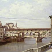 The Pontevecchio - Florence  Print by Antonietta Brandeis