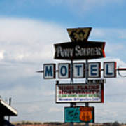 The Pony Soldier Motel On Route 66 Art Print