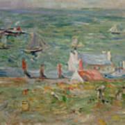 The Port Of Gorey On Jersey Art Print