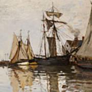 The Port Of Honfleur Art Print