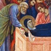 The Position Of Mary In The Tomb Fragment 1311 Art Print