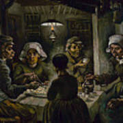 The Potato Eaters Art Print