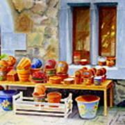 The Pottery Shop Art Print