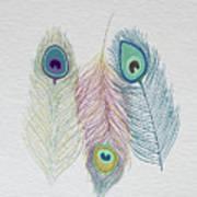 The Power Of Three Be Wild Be Free  Art Print