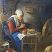 The Prayer Of The Spinner Art Print