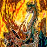 The Prince Battles The Dragon Art Print