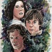 The Princess, The Knight And The Scoundrel Art Print