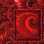 The Proper Victorian In Red  Art Print