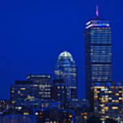 The Pru Lit Up In Red White And Blue For The Fourth Of July Art Print