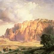 The Pueblo Of Acoma In New Mexico Art Print by Thomas Moran
