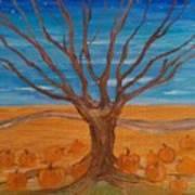 The Pumpkin Tree Art Print by Dawn Vagts