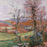 The Puy Barion At Crozant Print by Jean Baptiste Armand Guillaumin