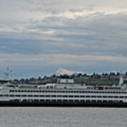 The Puyallup Ferry In Seattle Art Print