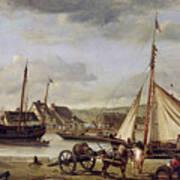 The Quay At Rouen Art Print