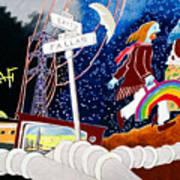 The Rainbow Family Moved Away Art Print