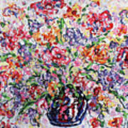 The Rainbow Flowers Art Print