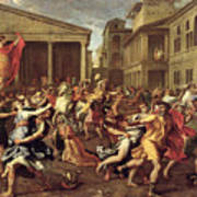 The Rape Of The Sabines Art Print