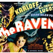 The Raven, From Left Boris Karloff Art Print by Everett