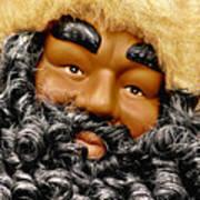 The Real Black Santa Art Print