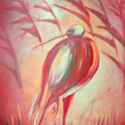 The Red Bird Art Print