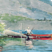 The Red Canoe Print by Winslow Homer