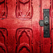 The Red Church Door Art Print