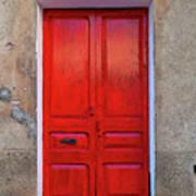 The Red Door. Art Print
