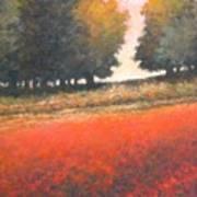 The Red Field #2 Art Print