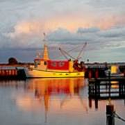 The Red Fishing Boat Art Print