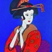 The Red Geisha Art Print