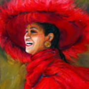 The Red Hat Art Print by Billie Colson