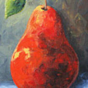 The Red Pear II  Art Print