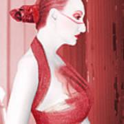 The Red Stripe - Self Portrait Art Print