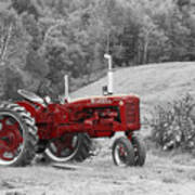 The Red Tractor Art Print