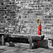 The Red Umbrella 2 Art Print