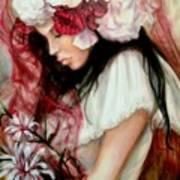 The Red Veil Art Print