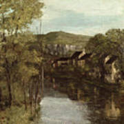 The Reflection Of Ornans Print by Gustave Courbet