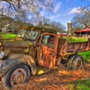 The Resting Place Boswell Farm 1947 Dodge Dump Truck Art Print