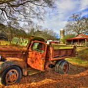 The Resting Place 2 Farm Life 1947 Dodge Dump Truck Art Art Print