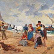 The Return Of Fishermen Art Print