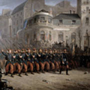 The Return Of The Troops To Paris From The Crimea Art Print by Emmanuel Masse