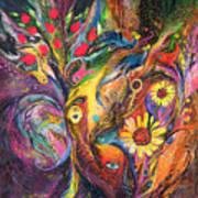 The Rhapsody Of Love Art Print by Elena Kotliarker