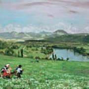 The Rhine Near Sakingen Art Print