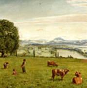 The Rhine Valley Near Sackingen Art Print