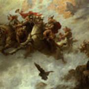 The Ride Of The Valkyries  Art Print by William T Maud