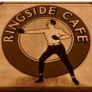 The Ringside Cafe Art Print